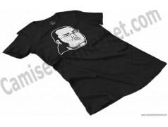 Camiseta meme Friki Chica color negro perspectiva