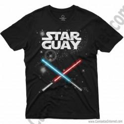 Camiseta Star Guay y sus espadas de luz Chico color negro