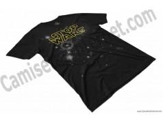 Camiseta Stop Wars amarillo Chico color negro perspectiva