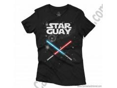Camiseta Star Guay y sus espadas de luz Chica color negro
