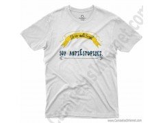 Camiseta_no soy antiSocial Soy antiEstupidez Chico color blanco