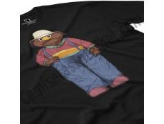 Camiseta Don Pimpón chico color negra en perspectiva cerca