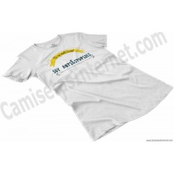 Camiseta_no soy antiSocial Soy antiEstupidez Chica color blanco perspectiva