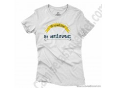 Camiseta_no soy antiSocial Soy antiEstupidez Chica color blanco