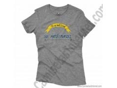Camiseta_no soy antiSocial Soy antiEstupidez Chica color gris Jaspeado