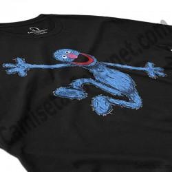 Camiseta Coco chico color negro perspectiva cerca