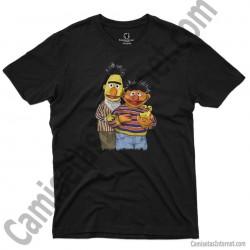 Camiseta Epi y Blas chico color negro