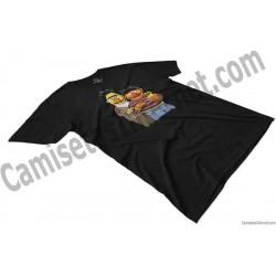 Camiseta Epi y Blas chico color negro perspectiva