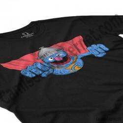 Camiseta Coco volando chico color negro perspectiva cerca