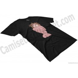 Camiseta Espinete chico color negro perspectiva