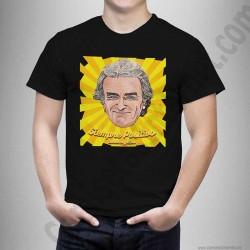 Camiseta modelo Fernando Simón con frase Siempre Positivo Chico color negro