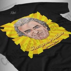 Camiseta Fernando Simón con frase Siempre Positivo Chico color negro perspectiva cerca
