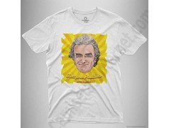 Camiseta Fernando Simón con frase Siempre Positivo Chico color blanco