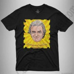 Camiseta Fernando Simón con frase Siempre Positivo Chico color negro