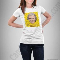 Camiseta modelo Fernando Simón con frase Siempre Positivo Chica color blanco