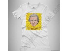 Camiseta Fernando Simón con frase Siempre Positivo Chica color blanco