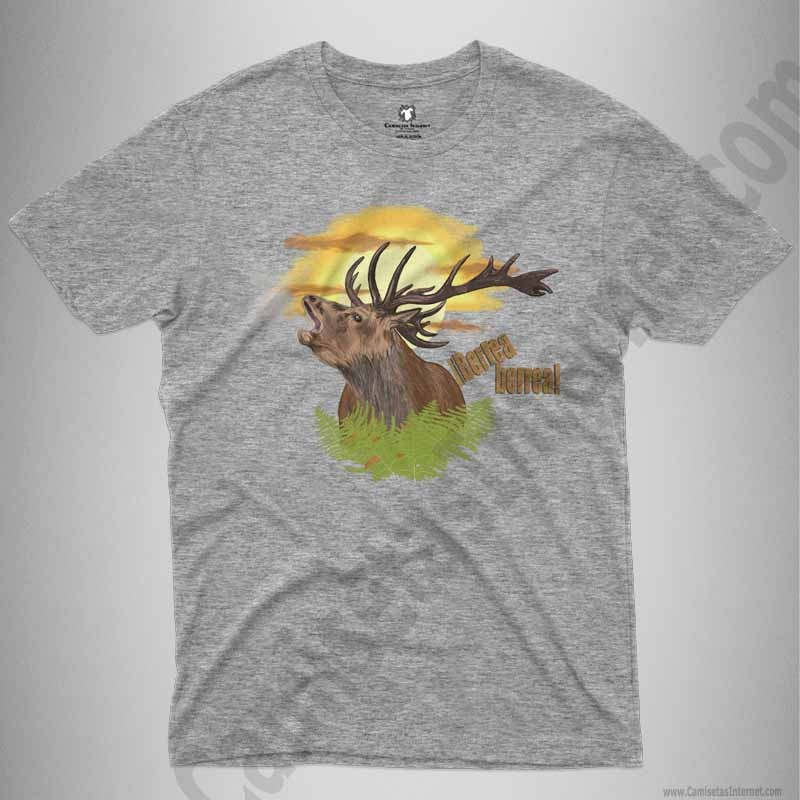 Camiseta Ciervo en berrea Chico color gris jaspeado
