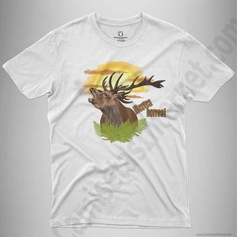 Camiseta Ciervo en berrea Chico color blanco