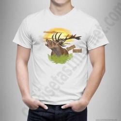 Camiseta modelo Ciervo en berrea Chico color blanco