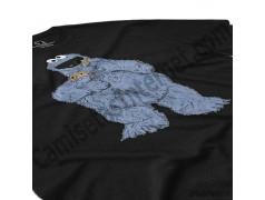 Camiseta Triki chico color negro perspectiva cerca