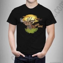 Camiseta modelo Ciervo en berrea Chico color negro