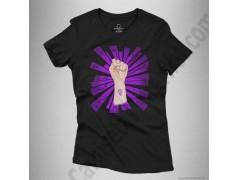 Camiseta Día de la Mujer luchadora chica color negro