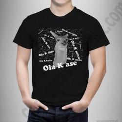 Camiseta modelo meme Ola K Ase blablablá Chico color negro