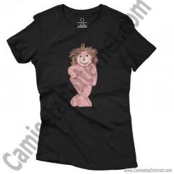 Camiseta Espinete chica color negro