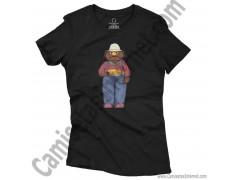 Camiseta Don Pimpón chico color negra