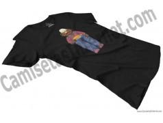 Camiseta Don Pimpón chica color negra en perspectiva