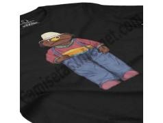 Camiseta Don Pimpón chica color negra en perspectiva cerca