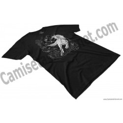 Camiseta caballo blanco chico color negro perspectiva